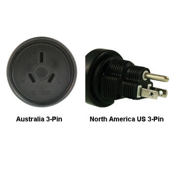 Product image for Australia to North America US 3-pin Power Adapter Plug | AusPCMarket Australia
