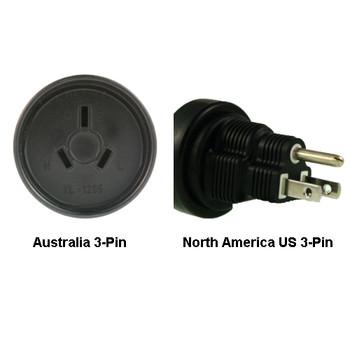 Product image for Australia to North America US 3-pin Power Adapter Plug   AusPCMarket Australia