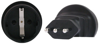 Product image for Schuko to Italy 3 Pin Plug Adapter | AusPCMarket Australia
