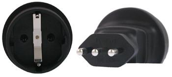 Product image for Schuko to Italy 3 Pin Plug Adapter | AusPCMarket Australia