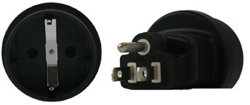 Product image for Schuko to US 3 Pin Plug Adapter | AusPCMarket Australia