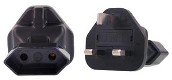 Product image for EU 2 Pin to UK Plug Adapter   AusPCMarket Australia