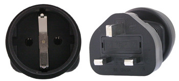 Product image for Schuko to UK 3 Pin Plug Adapter | AusPCMarket Australia