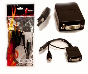 Product image for Adapter Active DisplayPort To DVI-D Adapter (200492 Parade chipset) | AusPCMarket Australia