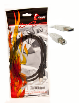 Product image for 5m Type A To Type B USB 2.0 Data Cable (U20C5) | AusPCMarket Australia