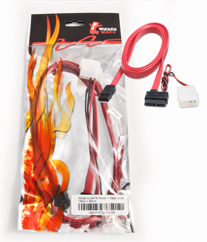 Product image for 15cm 15Pin SATA Power & 80cm SATA Data Cable | AusPCMarket Australia