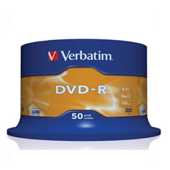 Product image for Verbatim DVD-R 16x White Printable 50pcs | AusPCMarket Australia