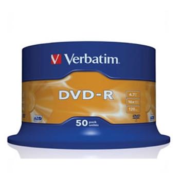 Product image for Verbatim DVD-R 16x White Printable 50pcs | AusPCMarket Australia