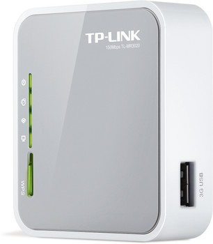 Product image for TP-Link TL-MR3020 Portable 3G/4G Wireless N150 Router | AusPCMarket.com.au