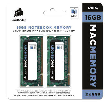 Product image for Corsair 8GB (2x4GB) Mac Memory, 1333MHz CL9 DDR3 SO-DIMM for Apple | AusPCMarket Australia