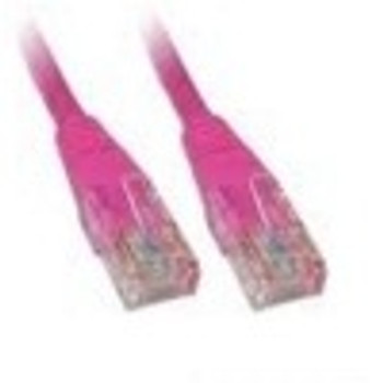 Product image for CAT5e PATCH CORD 0.5M PINK Network Cable 453059 | AusPCMarket Australia