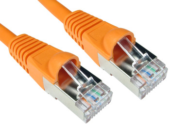 Product image for CAT5e PATCH CORD 1M ORANGE Network Cable 33845 | AusPCMarket Australia