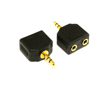 Product image for 3.5MM Audio Plug  To 2 Socket Adaptor | AusPCMarket Australia