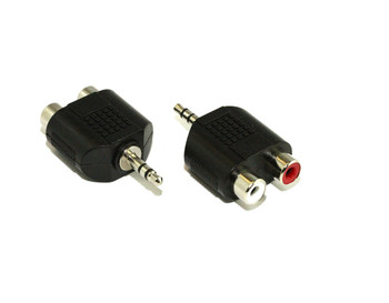 Product image for 3.5MM Plug To 2 RCA F Adaptor | AusPCMarket Australia