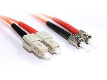 Product image for 1M SC-ST OM1 Multimode Duplex Fibre Optic Cable | AusPCMarket Australia