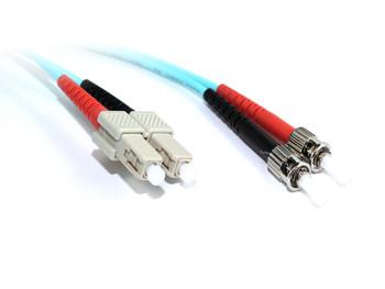 Product image for 1M SC-ST OM3 10GB Multimode Duplex Fibre Optic Cable | AusPCMarket.com.au