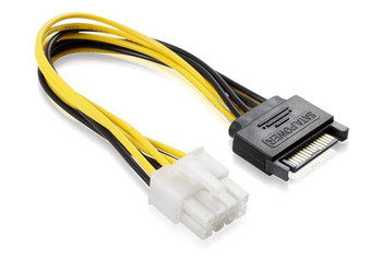 Product image for 15CM SATA M To ATX P8 Cable | AusPCMarket Australia