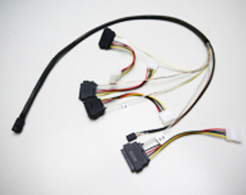 Product image for 1M Internal Mini SAS HD to 4xSAS29 And Power Cable | AusPCMarket Australia