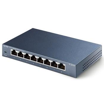 TP-Link TL-SG108 Steel Housing 8-Port 10/100/1000Mbps Desktop Switch Product Image 2