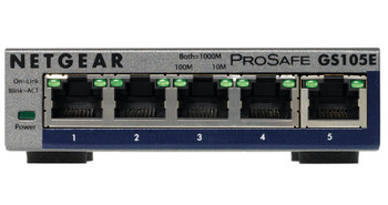 Product image for Netgear GS105E ProSafe Plus 5-port Gigabit Ethernet Switch   AusPCMarket Australia