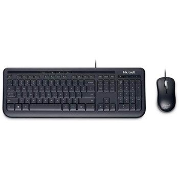 Product image for Microsoft Wired Desktop 600 Series USB Keyboard and Mouse Combo - Black | AusPCMarket Australia