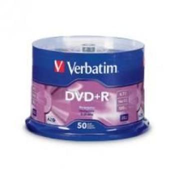 Product image for Verbatim DVD+R 4.7GB 50Pk 16X 95037 | AusPCMarket Australia