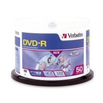 Product image for Verbatim DVD-R 4.7GB 16X 50pk 95101 | AusPCMarket Australia