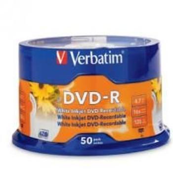 Product image for Verbatim DVD-R16X 4.7GB 50PK 95137   AusPCMarket Australia