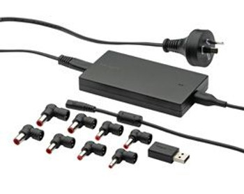 Product image for Targus Slim & Light Universal Laptop Charger 90W with USB Charging | AusPCMarket Australia
