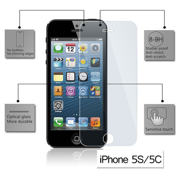 Product image for Tempered Glass Screen Protector for Apple iPhone 5/5C/5S | AusPCMarket Australia