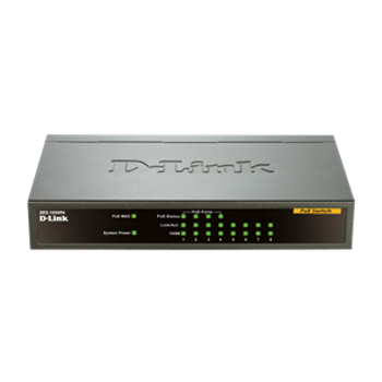 Product image for D-Link DES-1008PA 8-Port 10/100Mbps Desktop PoE Switch | AusPCMarket Australia