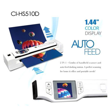 Product image for Digitalk 2-in-1 Combo Portable A4 1200DPI Photo Scanner (CI-HS510D) | AusPCMarket Australia