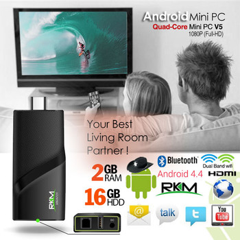 Product image for RKM V5 Quad Core 4K mini PC RK3288 2G DDR3/16G ROM/BT 4.0 Dual Band | AusPCMarket Australia