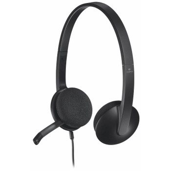 Product image for Logitech H340 USB Headset Black | AusPCMarket Australia