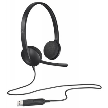 Logitech H340 USB Headset Black Product Image 2