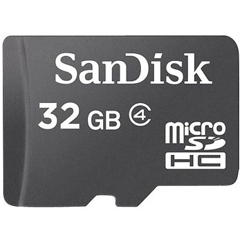 Product image for SanDisk 32GB microSDHC Memory Card - Class 4 | AusPCMarket Australia