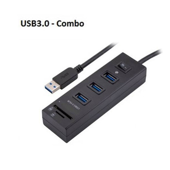 Product image for USB3.0 HUB 3 Port with Switch + card Reader | AusPCMarket Australia