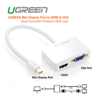 Product image for Adapter UGreen Mini Display Port to HDMI & VGA Dual Converter 10427 ) | AusPCMarket Australia