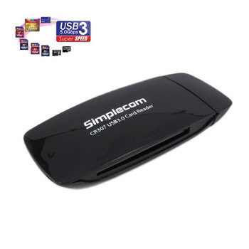 Product image for Simplecom CR307 SuperSpeed USB 3.0 All In One Card Reader with CF 4 Slot | AusPCMarket Australia
