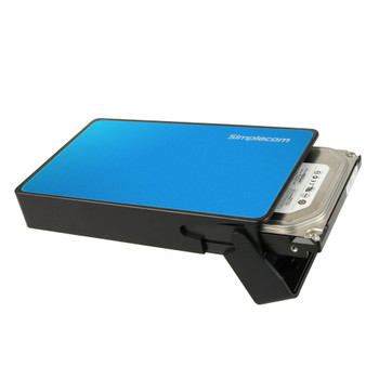 Product image for Simplecom SE325 Tool Free 3.5in SATA HDD to USB 3.0 Drive Box Blue | AusPCMarket Australia