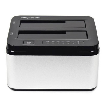 Simplecom SD322 Dual Bay USB 3.0 Aluminium Docking for 2.5/3.5 Silver Product Image 2