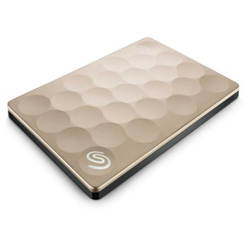 Product image for Seagate Backup Plus Ultra Slim 1TB USB3 Portable External Hard Drive - Gold | AusPCMarket Australia