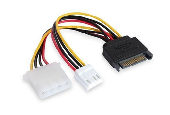 Product image for 15CM SATA M To Molex & Floppy | AusPCMarket Australia