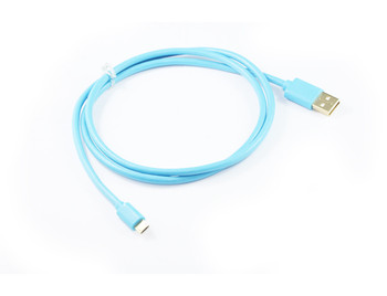 Product image for 1M Blue Micro USB 22AWG Fast Charging Cable | AusPCMarket.com.au
