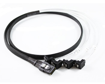 Product image for 1M Mini SAS to 4 x Right Angle SATA Cable | AusPCMarket Australia