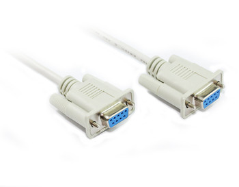 Product image for 2M DB9 F/F Null Modem Cable with Partial Handshaking | AusPCMarket Australia