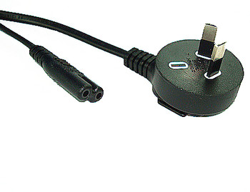 Product image for 2M Right Angle plug to C7 Power Cable | AusPCMarket.com.au