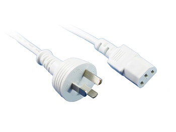 Product image for 2M White IEC C13 Power Cable | AusPCMarket Australia