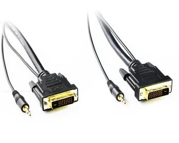 Product image for 5M DVI-D to DVI-D Cable with 3.5mm Audio | AusPCMarket.com.au