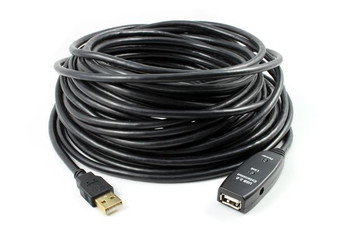 Product image for 15M USB 2.0 Active Extension Cable with DC Jack | AusPCMarket.com.au